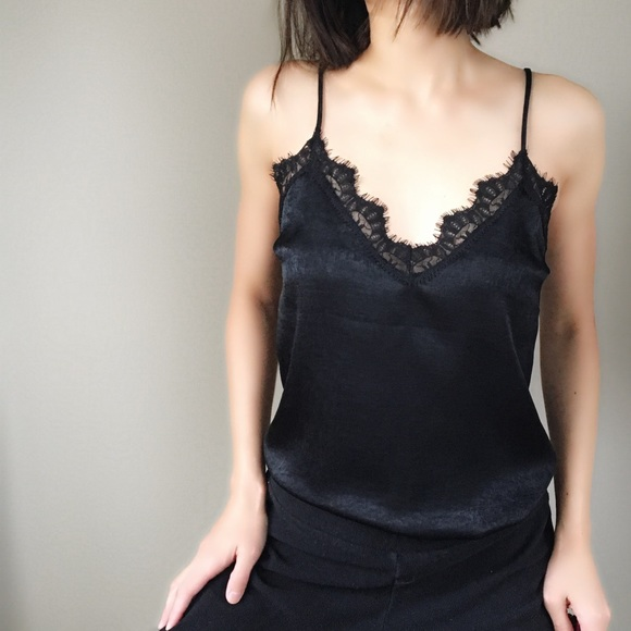 b9798c4ffcc12b Basic chic just have French lace camisole top.