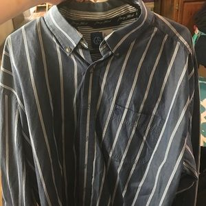 Wrangler Other - George straight shirt, size XXL, blue and white