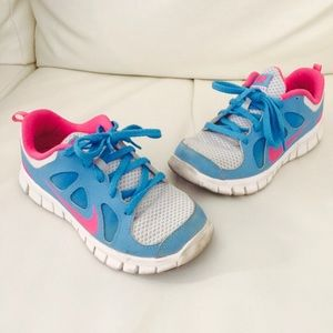 Nike Other - NIKE Free pink/blue little girl sneakers (size 13)