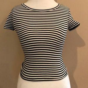 Tops - Short Sleeve Semi Cropped T-Shirt