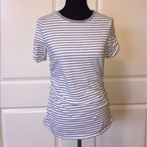 Michael Kors Gray and White Striped Top