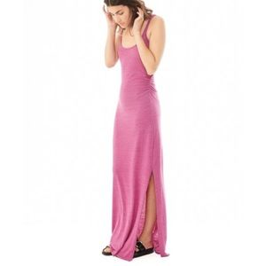 Alternative Apparel Dresses & Skirts - ALTERNATIVE APPAREL Ruched Jersey Pink Maxi Dress