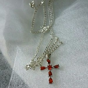 Other - Unisex,gemstone sterling silver jewelry cross