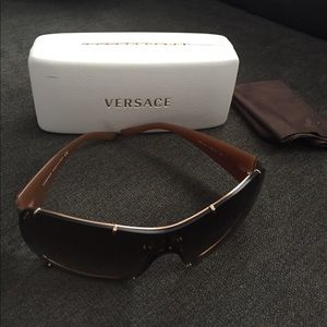 Brown and gold Versace sunglasses