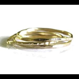 nejd Jewelry - Set of 3 Gold Filled Stacking Rings