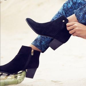Tory Burch Shoes - Tory Burch Sabe Black Suede Heeled Booties 7.5