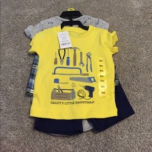 Carter's Other - NWT adorable handyman outfit size 6m