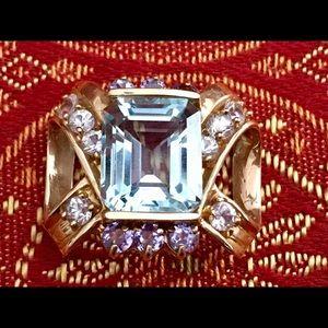 Jewelry - Diamond/Blue Topaz/Tanzanite Necklace Enhancer