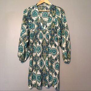 ALLOY Dresses & Skirts - Bailey Blue Sheer Paisley Dress XS