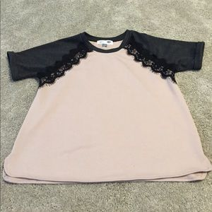 Old Navy Tops - Cute lacy pink maternity shirt size M