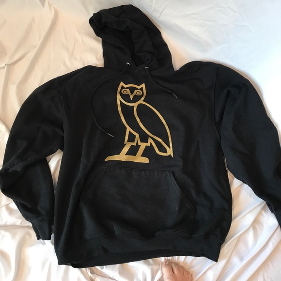 cozy cosmopolitan genuine need of ovo black and gold hoodie
