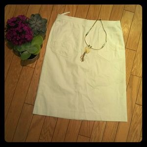 Barneys New York Dresses & Skirts - Barneys ny white pencil skirt sz 12