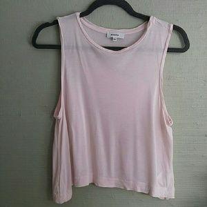 Aritzia Babaton soft pink midi crop top sz S