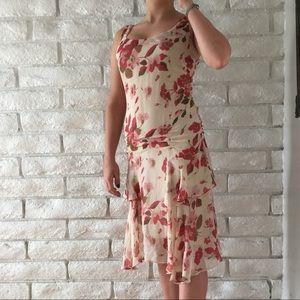 BCBG Maxazria 100% silk floral dress