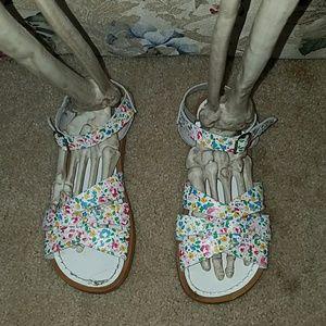 Salt Water Sandals by Hoy Shoes - Floral Salt Water Sandals