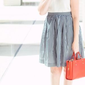 J. Crew Factory Dresses & Skirts - J.Crew Navy & White Striped Skirt