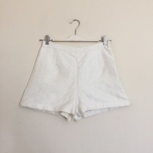 Urban Outfitters Pants - High waisted white textured shorts small