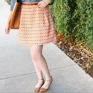 J. Crew Factory Dresses & Skirts - J.Crew Geometric Patterned A-Line Skirt
