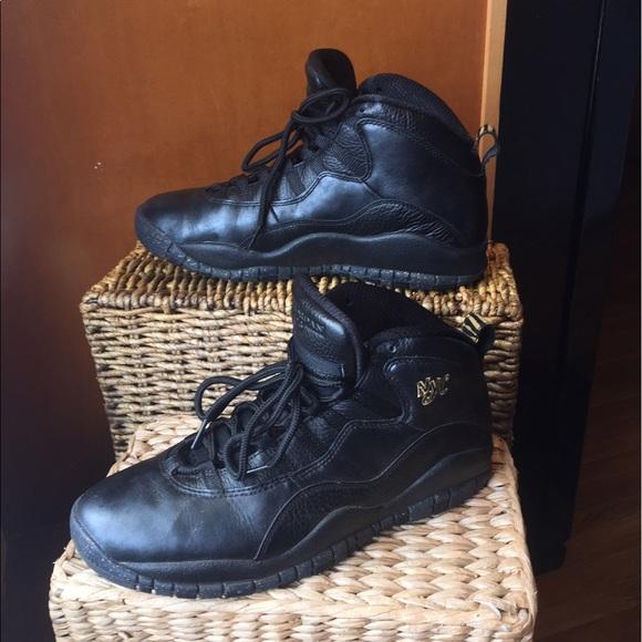 c80afd1ad567 Air Jordan Retro 10 NYC Black Gold sz9.5. M 58f684f013302a3fd601be4a