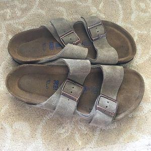 Birkenstock Shoes - Taupe Suede Birkenstock