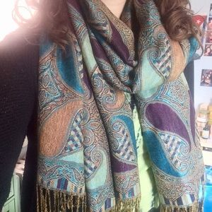 Pashmina-Style Multi-Colored Scarf