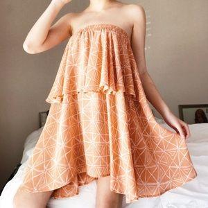 Faithfull the Brand Strapless Mini Dress