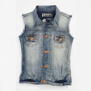 Peek Other - Peek Dungarees denim blue jean vest XL