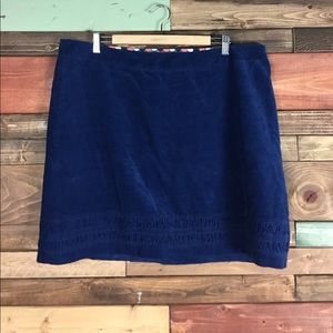 Boden Royal Blue Corduroy Pencil Skirt 16R