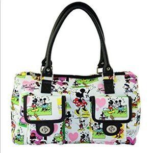 Mickey and Minnie cartoon handbag
