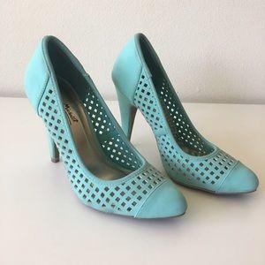 Anne Michelle Shoes - Fun summer heels  mint green