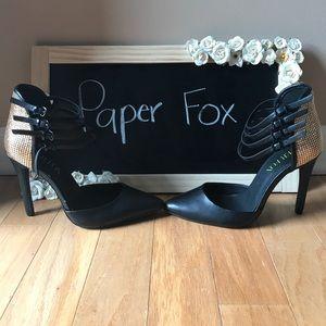 Paper Fox Shoes - NWOT-Paper Fox black ankle strap heels