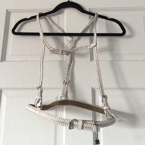 BCBGMaxAzria Accessories - BCBGMAXAZRIA braided harness belt