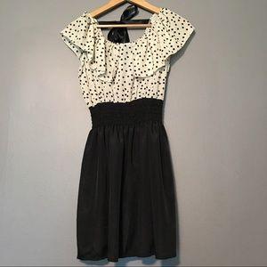 Dresses & Skirts - Polka Dot Smocked Waist Dress XS