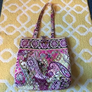 Vera Bradley Tote Bag Pink Paisley 