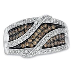 Zales Jewelry - Champagne Diamond Ring- Genuine/Inspected