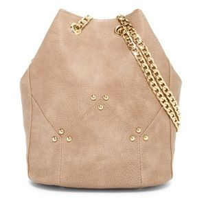 bucket bag Gray with Gold hardware