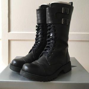 Volatile Shoes - Black Volatile Lace Up Combat Boots