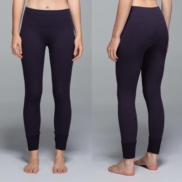 b6450fedc lululemon athletica Pants - Lululemon Heathered Black Grape Ebb to Street  Pant