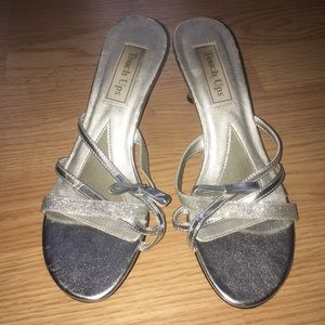 touch ups Shoes - Touch ups silver shoe for prom!