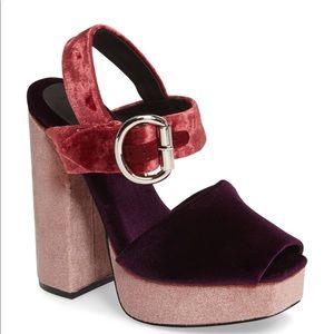 Jeffrey Campbell Shoes - Jeffrey Campbell Velvet Platform Sandal