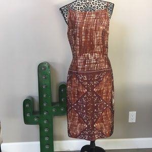 Tocca Dresses & Skirts - Tocca brown silk slipdress Midcentury print