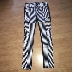 Tripp NYC striped on front black in back pants