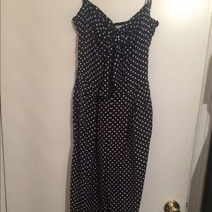 Zara XS blue & white polka dot jumper