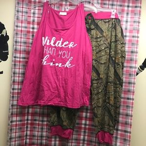 Camo Other - Tank top and jogger set NEW