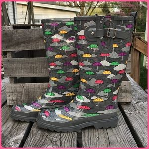 Western Chief Shoes - 🆕List! Gray Umbrella Print Rainboots! NEW!