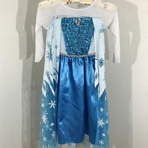 Girls Frozen Elsa Dress Princess Cosplay Costume