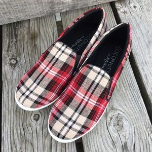 Coconuts Shoes - 🆕List! Red Plaid Loafers! NEW!