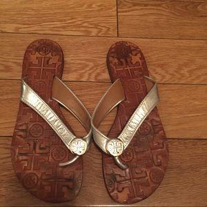 Tory Burch Shoes - Tory burch silver flats