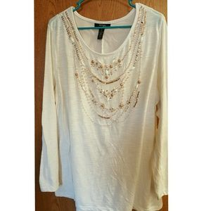 Style & Co Tops - Beaded top