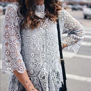 chicwish Tops - Chicwish Crochet/Lace Top - NWT